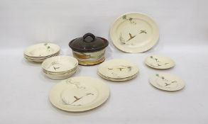 Collection of Royal Doulton 'The Coppice' pattern plates, bowls, meat dish, etc together with a