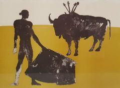 "Dame Elisabeth Frink, RA (1930-1993) Lithograph in two colours  ""Corrida IV 1973, Man and Bull III"","
