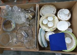 Two boxes of mixed china and glasswareto include glass vases, etc