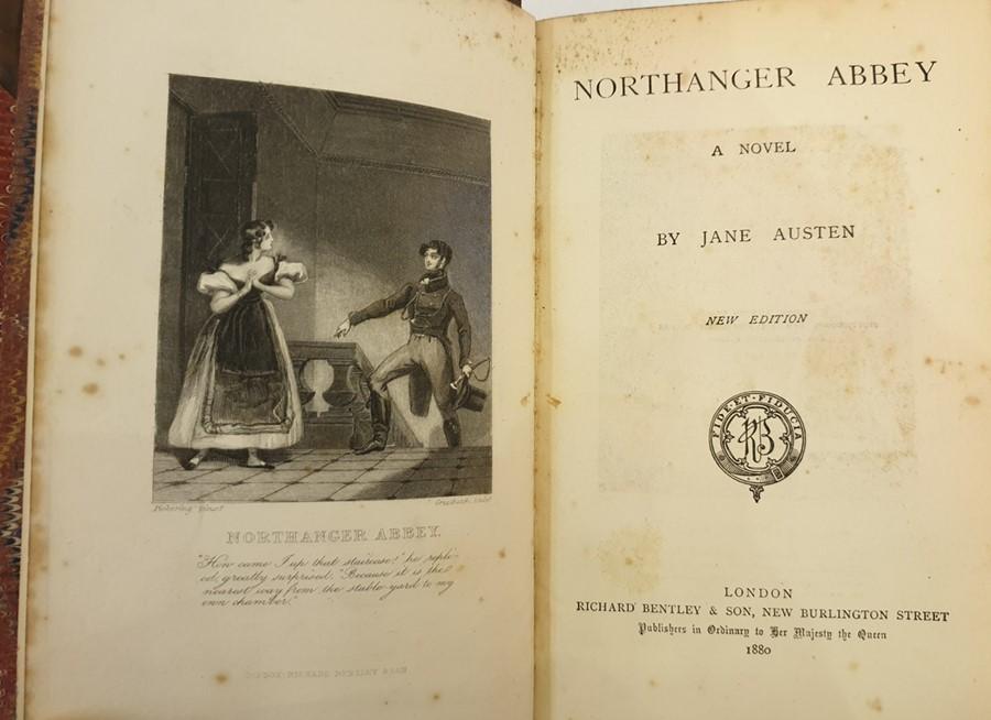 "Lot 43 - Jane Austen ""Austen's Works including Pride and Prejudice, Mansfield Park, Emma, Sense and"