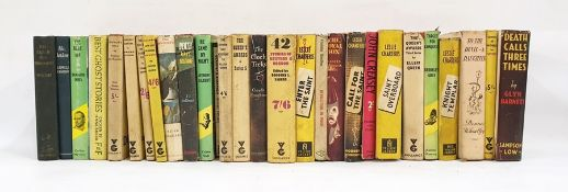 Quantity of detective novels including Glyn Barnett, Dennis Wheatley, Leslie Charteris, various