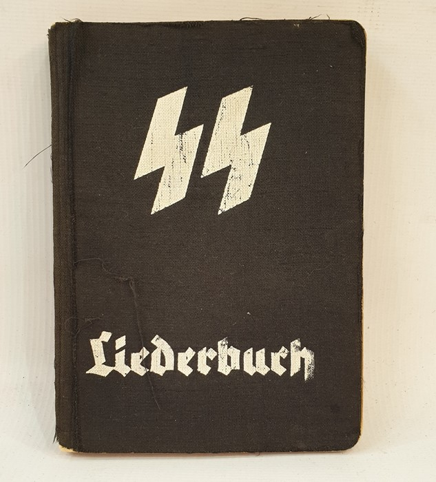 """Lot 46 - SS Songbook """"SS = Liederbuch""""published Munchen, Munich, with music, words, illustrations, a pen"""