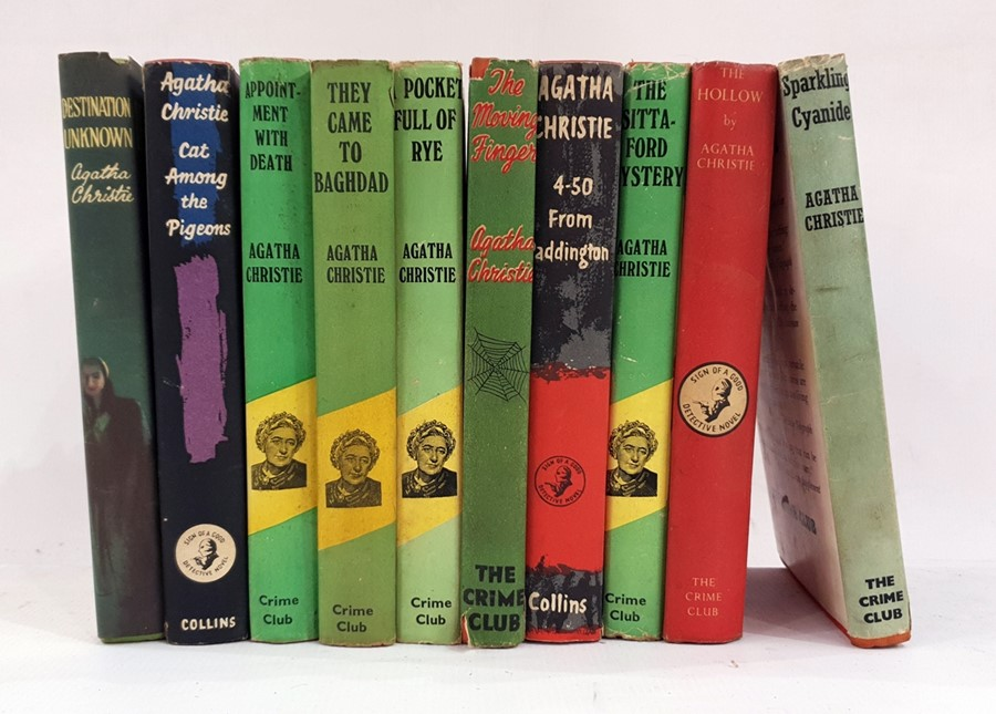 "Lot 58 - Agatha Christie ""The Crime Club Series"" including 'Sparking Cyanide' 1945, 'The Hollow' 1946, 'The"
