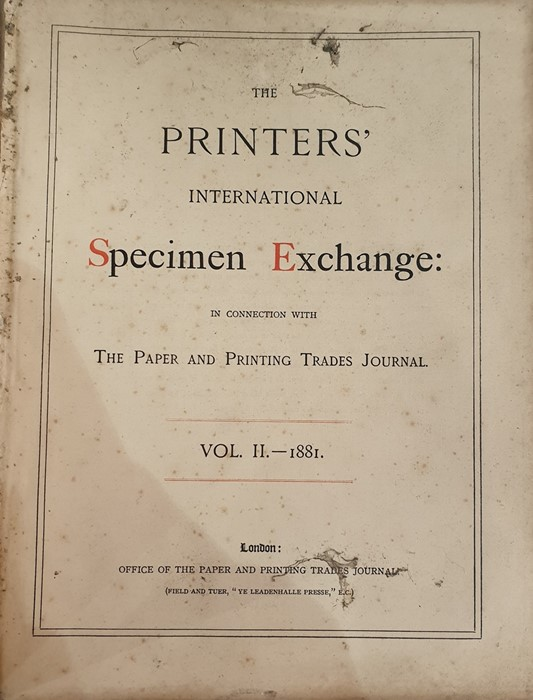 Lot 49 - The Printers' International Specimen Exchange in Connection with the Paper and Printing Trades