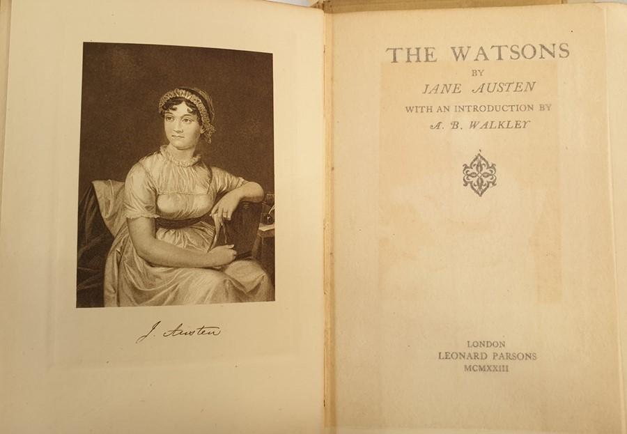 Lot 18 - Austen, Jane Thomas Nelson & Sons,4 uniform vols, cream vellum with green pastedowns to title