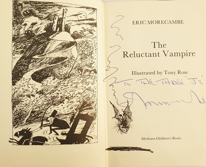 "Lot 11 - Morecambe, Eric ""The Reluctant Vampire"", Methuen's Childrens Books 1983, inscribed and signed by the"