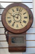 Wall clock, the dial marked 'Walter Clifford, Bourton on the Water'