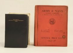 """Army and Navy Stores Limited General Price List 1935-36"", fully illustrated catalogue and"