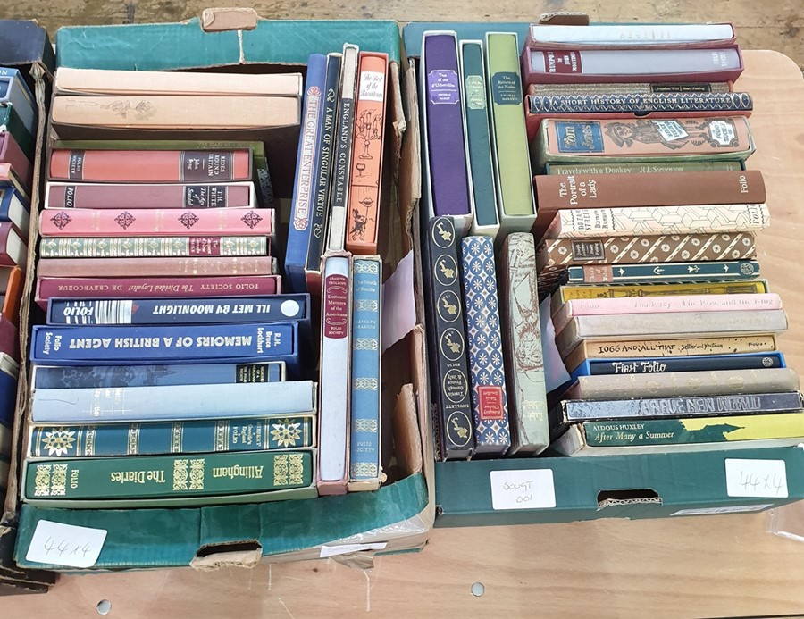 Lot 44 - Quantity of folio society including history, biography, fiction (4 boxes)