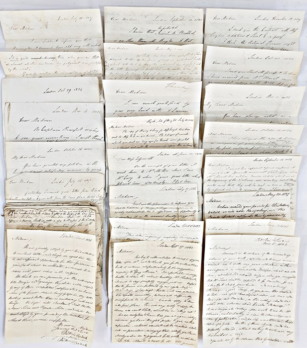 Lot 40 - Large quantity of letters from R. Hunter to Maria Edgeworth, various dates dating from 1814