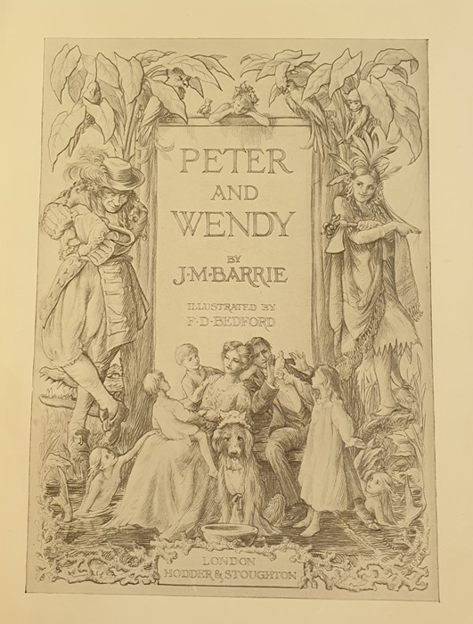 """Lot 6 - Barrie, J M """"Peter and Wendy"""", illustrated by F D Bedford, London, Hodder & Stoughton, 5th and"""