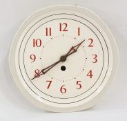 20th century wall clockwith Arabic numerals to the china face