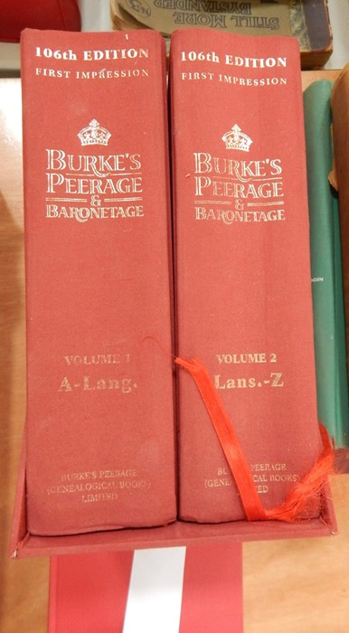 """Lot 24 - """"Burke's Peerage and Baronetage"""", 106th edition, 1st impression """"Burke's General Armory"""""""