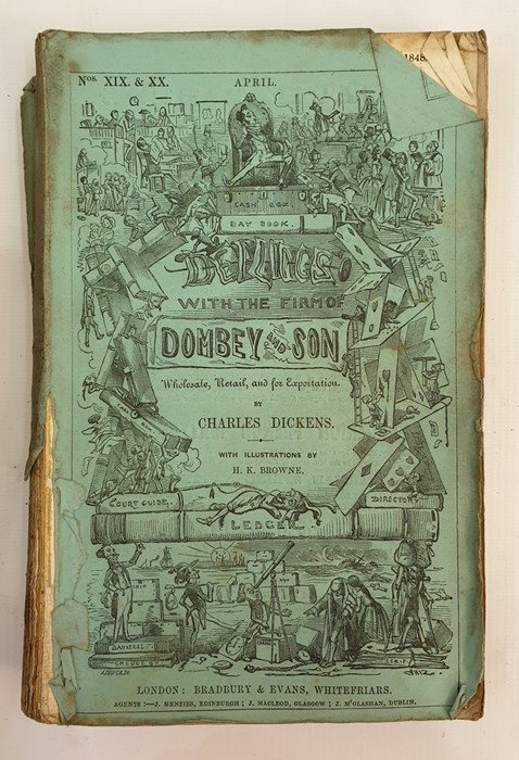 Lot 20 - Dickens, Charles, Dombey & Son (as originally published), paper covers, there are two copies of