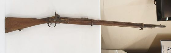 19th century tower percussian musketdated 1876 (no ram rod) Condition ReportPlease see further