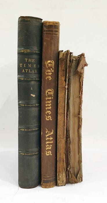 Lot 48 - Two copies of The Times Atlas and Bacon's Popular Atlas of the British Isles, the latter lacking