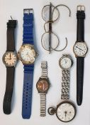 Small quantity of assorted wristwatches, etc
