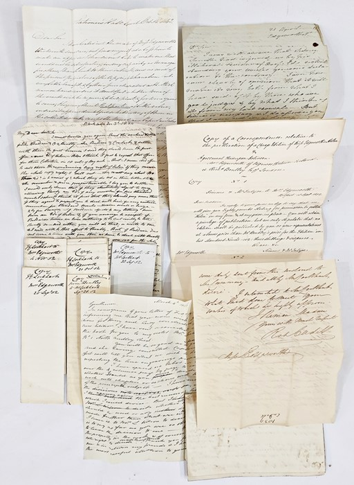 """Lot 38 - """"Copy of correspondance relative to the publication of a cheap edition of Miss Edgeworth's"""