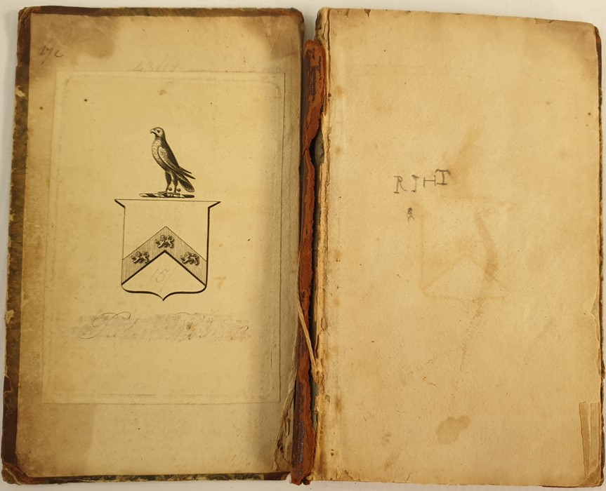 Lot 14 - Small pocket bible (1652), cut down, pencil inscriptions at the back, not complete, contemporary