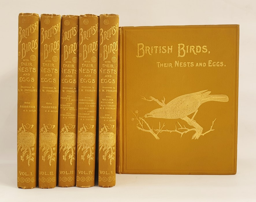"""Lot 3 - Butler, Arthur G and Frohawk, F W (ills) """"British Birds with their Nests and Eggs in Six"""