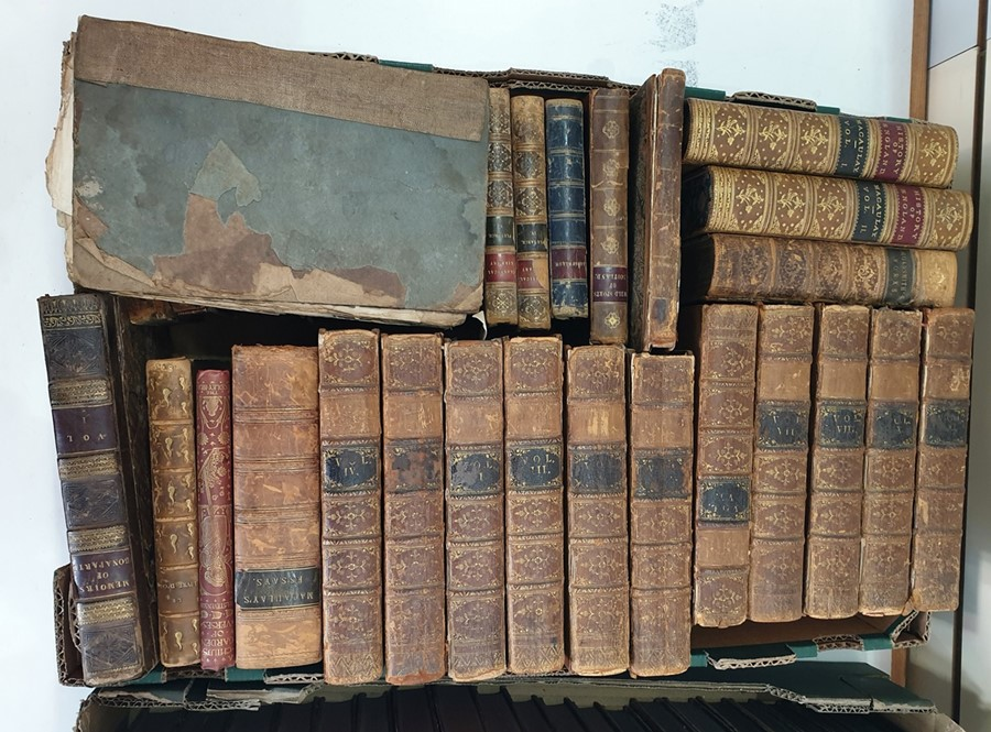Lot 16 - Quantity of antiquarian volumes and find bindings(1 box)