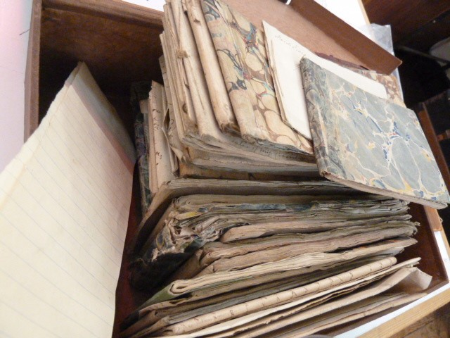 Lot 33 - Maria Edgeworth Large quantity of sketchbooks/notebooksbelieved being notes for various of her