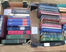 Quantity of folio society including history, biography, fiction (4 boxes)