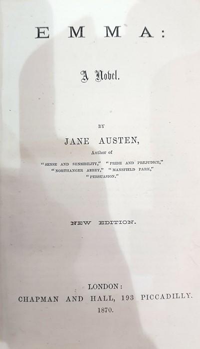 "Lot 47 - Austen, Jane ""Emma"", illustrated by Hugh Thompson, Macmillan & Co 1896, Peacock edition, yellow"