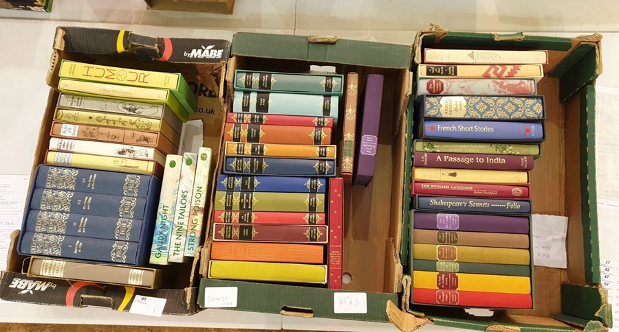 Lot 45 - Quantity of folio societyincluding Great Stories of Crime four-vol box set, Anthony Trollope,