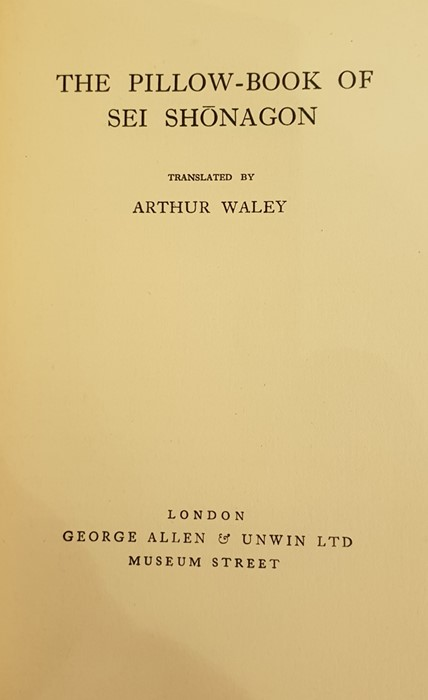 """Lot 23 - Waley, Arthur (trans) """"170 Chinese Poems"""", London, Constable & Company 1918, offsetting on the ffep,"""