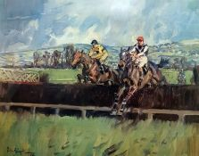 After Peter Biegel Colour print, 24/850 Signed in the margin Pat Taff and G W Robinson, steeplechase