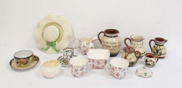 Collection of Torquayware pottery to include cups, saucers, jugs, teapot, plates etc, a Royal Winton