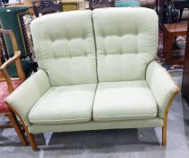 S Rouse & Co two-seater sofain green upholstery