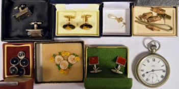 LOT WITHDRAWN Quantity of costume jewelleryto include cufflinks, necklaces, watches including