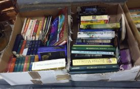 Quantity of books on gardening, topography, Nelson Classics, etc (2 boxes)