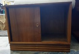 Mid century cupboardwith sliding doors, 70cm x 53cm