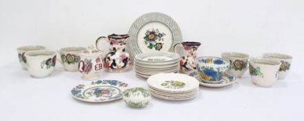 Masons ironstone china part tea set, Paynsley pattern, comprising ten cups and saucers, two spare
