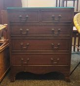 Mahogany chest of two short over three long drawers
