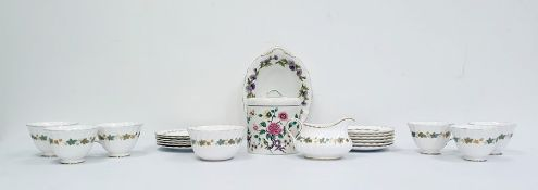 Collection of Wedgwood blue and white jasperware to include a vase, trinket dishes etc., a Royal