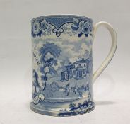Early 19th century Baker, Bevans & Irwin, Glamorgan pottery blue and white printed earthenware