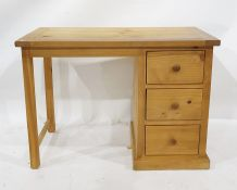 20th century pine dressing table with three assorted drawers