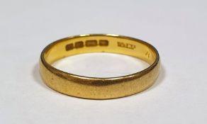 22 ct gold wedding band