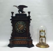 Mid to late 19th century mantel cuckoo clockin ornate Black Forest style case, featuring
