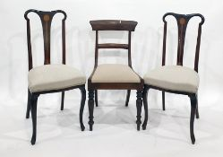 Two pairs of dining chairs to include pair of mahogany bar-back chairs (4)