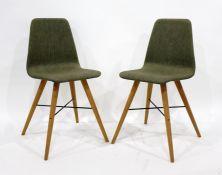 Pair of modern Danish 'Beaver' bedroom-type chairs (2)