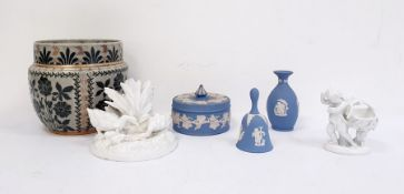 Doulton Lambeth stoneware art deco style jardiniere together with a collection of blanc-de-chine