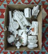 Box comprising a collection of Carltonware crested china