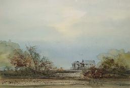 Three watercolour drawings Eastern scenes, signed 'B Leau' (3)