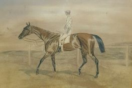 Unattributed Watercolour drawing Horse and jockey, 13.5cm x 19cm framed Condition Reportframed