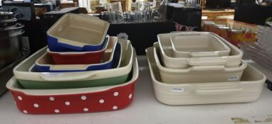 Large collection of assorted Le Creuset and other ceramic baking dishes (10) Condition ReportSee